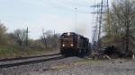 CSX Road Slug 2373 Leads a freight thru Boundbrook 2nd week in a row I caught this unit here at boundbrook