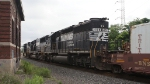 NS SD40-2 3328 on a stack train