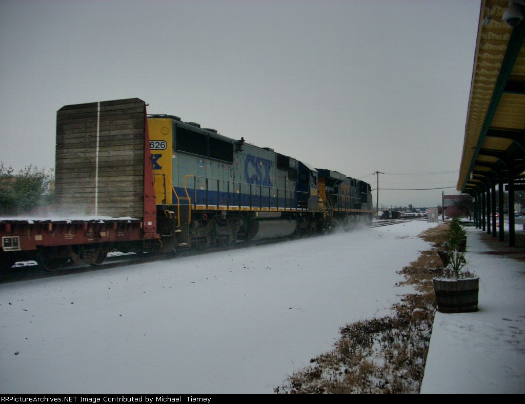 CSX ES44DC with a SD50