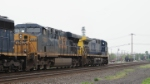 CSX AC44CW 458 leads a freight past Ridgefield Park