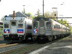SEPTA Train 373 meets 6372