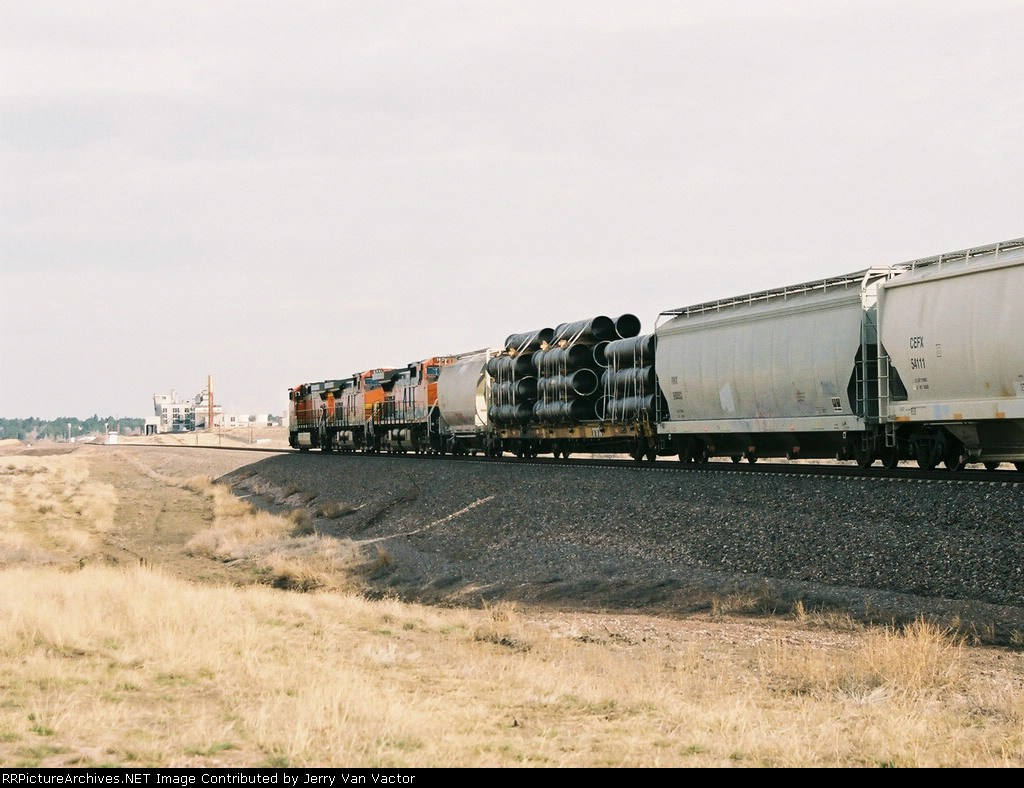 BNSF 1098 trails with Osage in the distance
