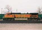 BNSF 4364 local power idling in the yard