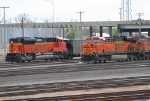 BNSF 9207 and BNSF 7598 passing in the yard