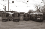Streetcars at Russell Carhouse
