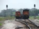 BNSF 6035 & 9187