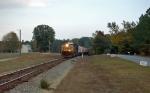 Empty Grain Hopper Train