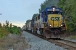 A pair of SD50's powered this grain train
