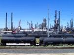 Tanks at the Chevron refinery
