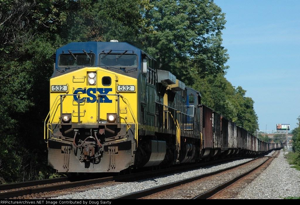 CSX 532  Westbound Coal Empties