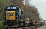 CSX Work Train ( Engine 2482 SD50-2)