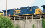 CSX 9016 recently repainted in YN3