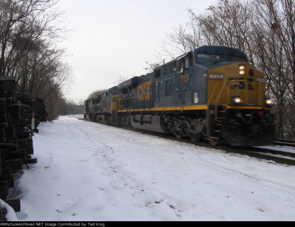 CSX 713, 9021 & 7326