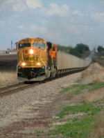 BNSF SD70MAC 9995 and Coal Empties