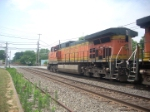 BNSF C44-9W 1101 , BNSF AC44CW 5715 and NS SD50 5414 lead a pig train thru Macungie Pa
