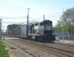 NS C40-8W 8367 & NS GP38-2 5351 on HA-13 1st time around