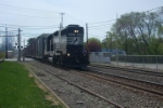 NS C40-8W 8367 & NS GP38-2 5351 on HA-13 2nd time around
