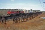 CP 8555 heads up a reroute on the CN