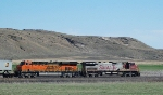 BNSF 642 and 7236