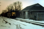 Coming north past the depot at Utica.