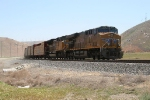 UP 5359 brings up the rear of the southbound QRVWC as it pounds the tracks past Monolith.