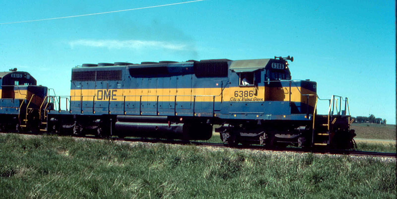 DM&E 6386 is one of many ex-MILW SD40-2's DME owned