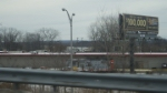 Ex MBTA 905 in Connecticut ( farmers market )