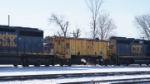 CSX GP40-2 6239 & Conrail Flanger 64714 at pittsfield MA