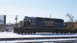 CSX SD40-2 8826 ,CSX GP40-2 6239 & Conrail Flanger 64714 at pittsfield MA