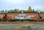 Cyclops Graffiti on railcar