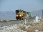 UP Z Train across the barren Nevada landscape