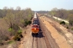 BNSF 4302 leads stacks