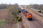 BNSF 4953 with the brown train