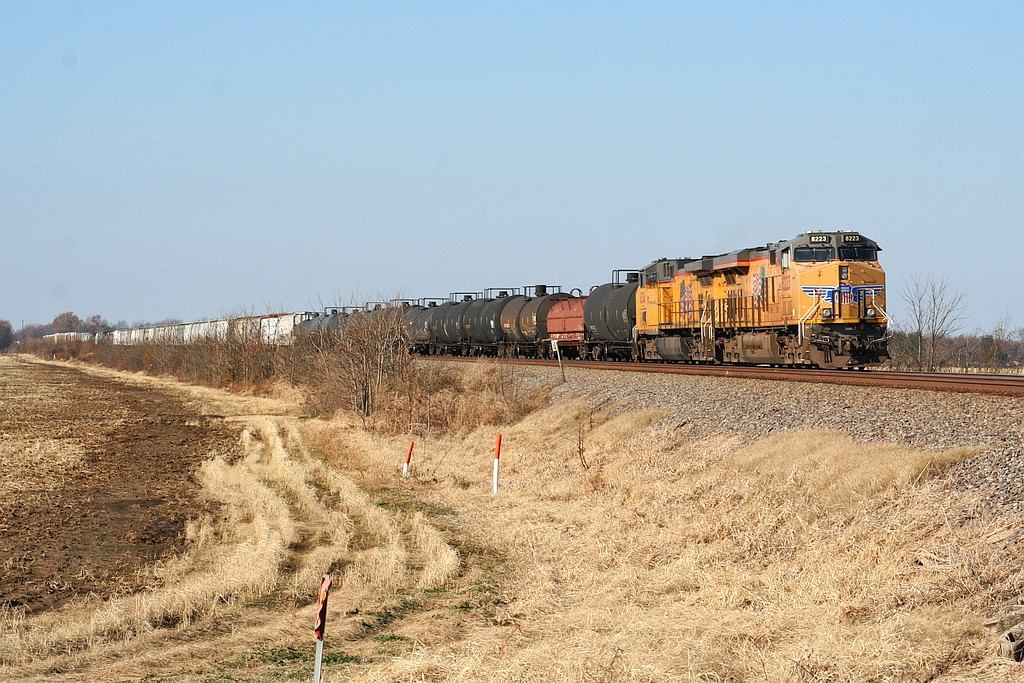 UP EB freight in Smithdale siding