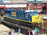 CSX 909 on the Steamtown Turntable