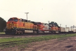 Westbound intermodal rolls through University