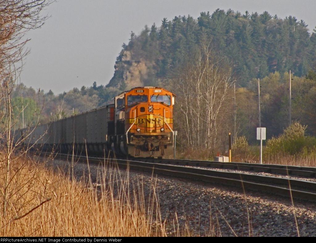 BNSF 8891,  CP's  Tomah  Sub.