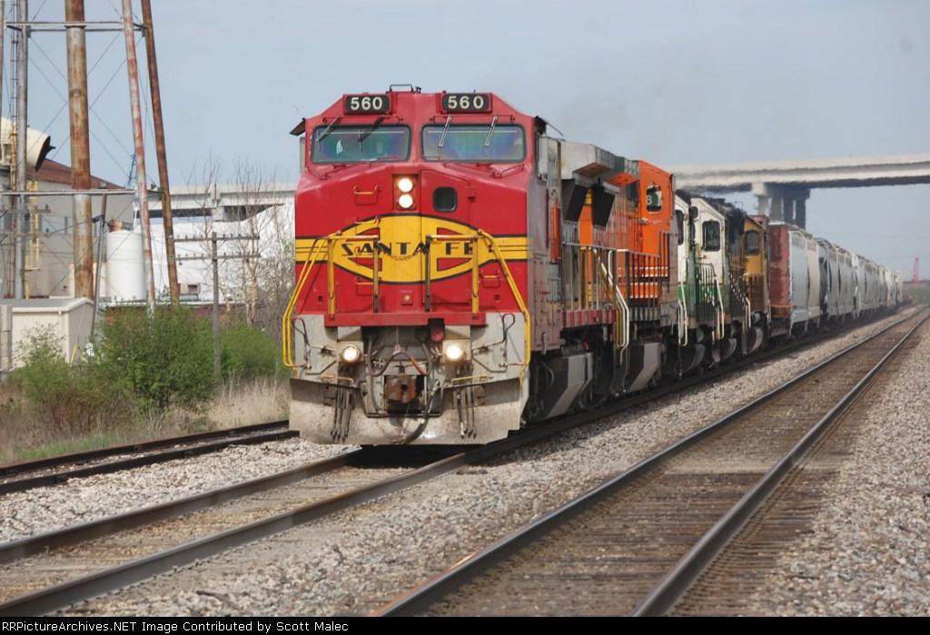 BNSF 560, 538, 1518, 1500 & 3171