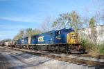 CSX SD70MACs on the Gainesville Midland