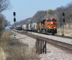 BNSF 7511 Passes the Murphy Crossover