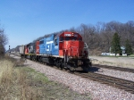 Two CN Geeps Run a Single Hopper to a Local Destination