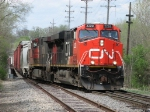 CN 2228 & 2525 start across the old EJ&E Eastern Sub with M342
