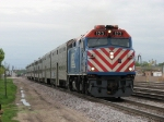 METX 123 heads west with a morning outbound