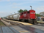 CP 4507 rolls east through the Metra station with the Southside Job