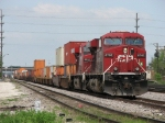CP 8702 & 8814 pull down for headroom before doubling 182 into the intermodal yard