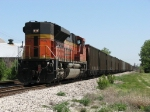 BNSF 9138 serving as the DPU at the rear of C716