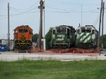 BNSF 2903, 2108 & 3136 line up before more work arrives