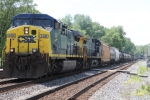 CSX 548 leads the Q411 down the Old main Line on #4 track