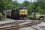 CSX 314 and the westbound S439 emerge from the OML