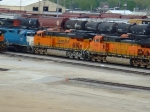 BNSF 5506, 6624, and EMDX 771